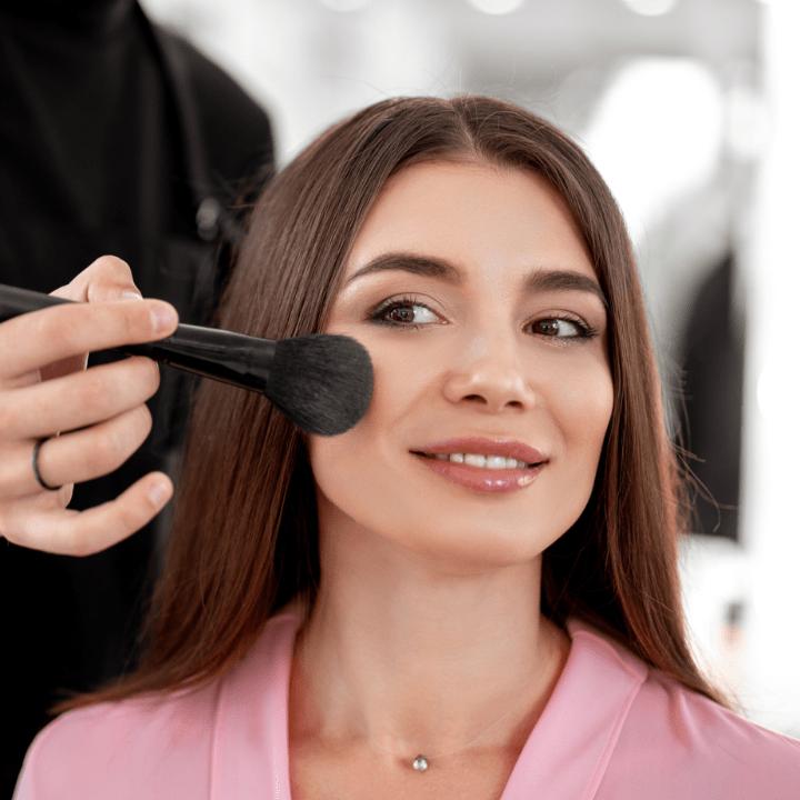 mac makeup school or qc makeup academy cheek makeup application