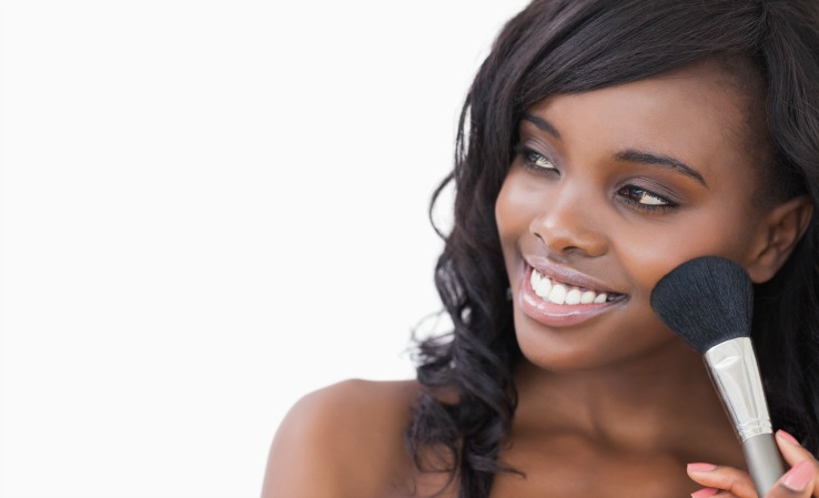 Ethnic Makeup colors and foundation match for dark skin tones