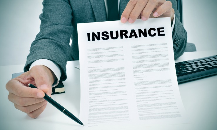Insurance Agent Holding Contract