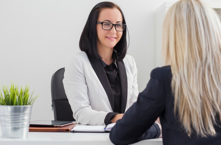 Manager interviewing applicant