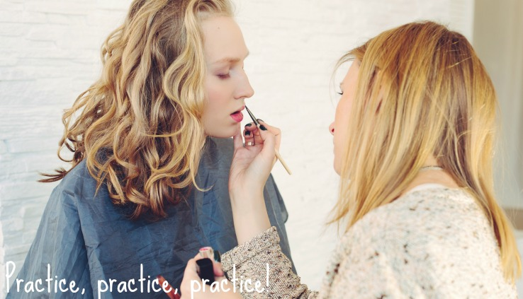 Student Practising Makeup Artistry