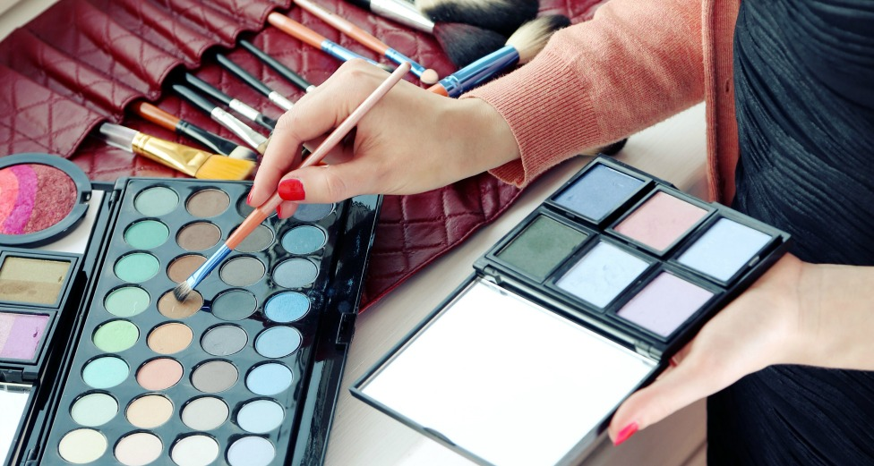 Woman starting a career in makeup artistry