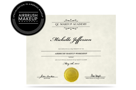 QC Airbrush Workshop makeup artist certification