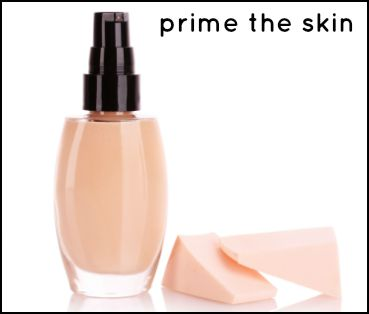 Prime makeup for mature skin