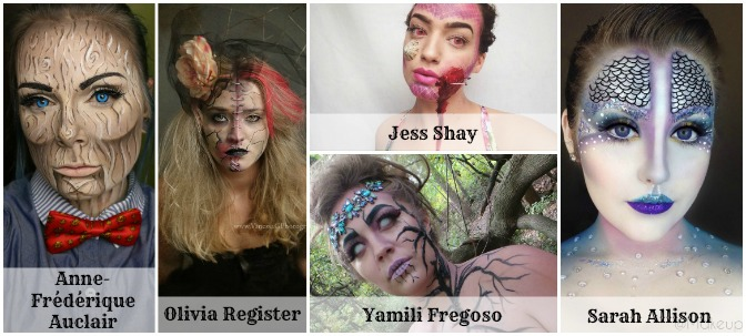 Fantasy Finalists of Halloween Makeup Contest