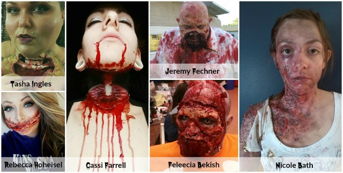 Gore Finalists of Halloween Makeup Contest