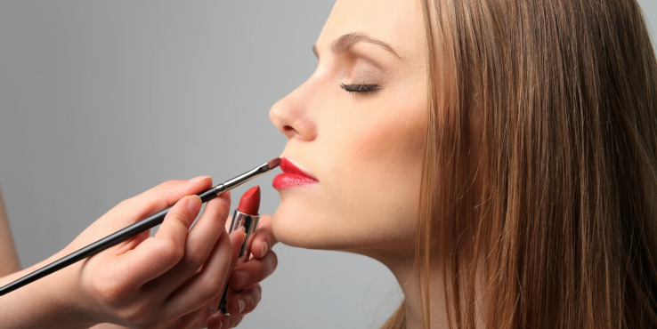 Makeup Blog about Makeup Hygiene No-nos- Career As a Makeup Artist Applying Lipstick with Makeup Brush