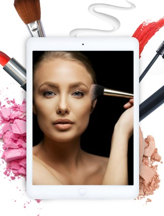 Beauty blogger on ipad