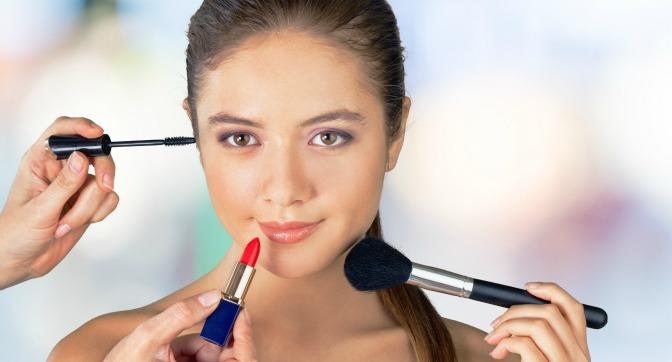 Teenager hiring a makeup artist