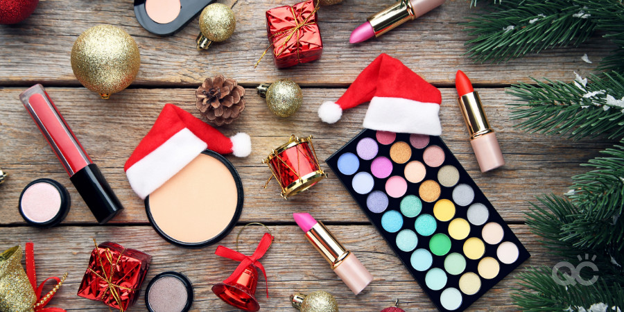 Christmas makeup products