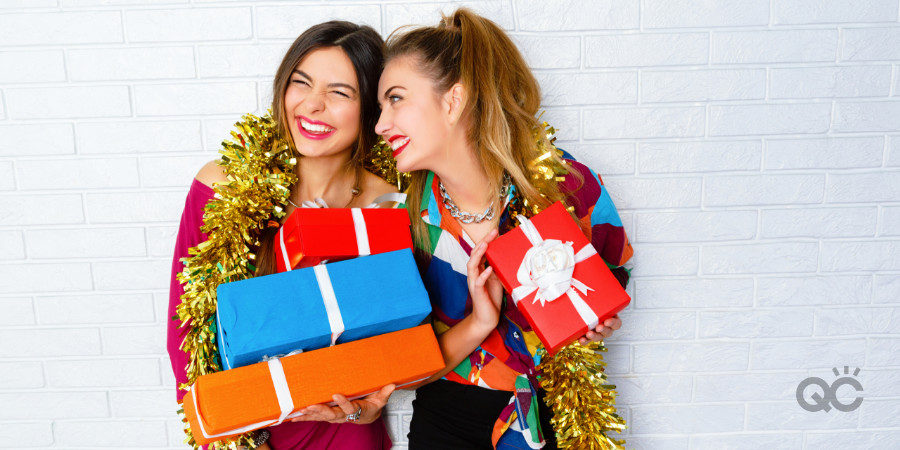 makeup artists happy with their christmas gifts