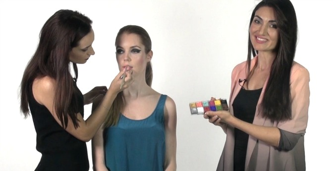QC Makeup Academy student finishing makeup tutorial