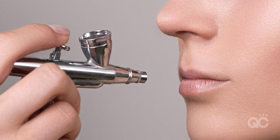 airbrush makeup artistry applying to lips