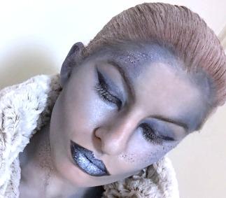 Kyla Lardie's Snow Queen makeup