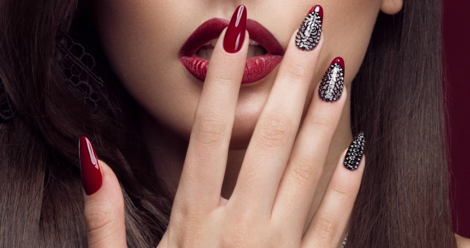 Runway makeup inspired nail art