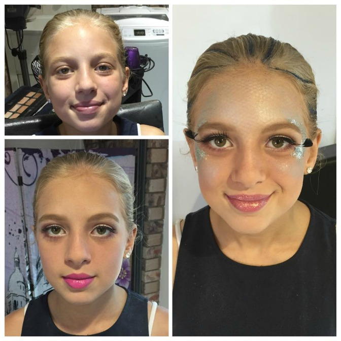Fancy children's makeup by Candy Stayte