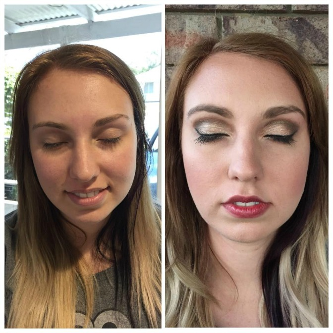 Candy Stayte before and after makeup