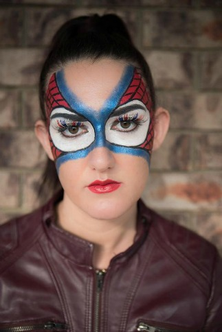 Fantasy Spiderman makeup by Candy Stayte