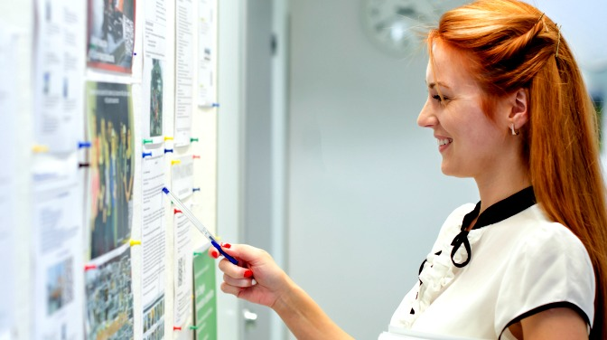 Looking at job postings on a career board