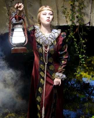 Actress as period fantasy character