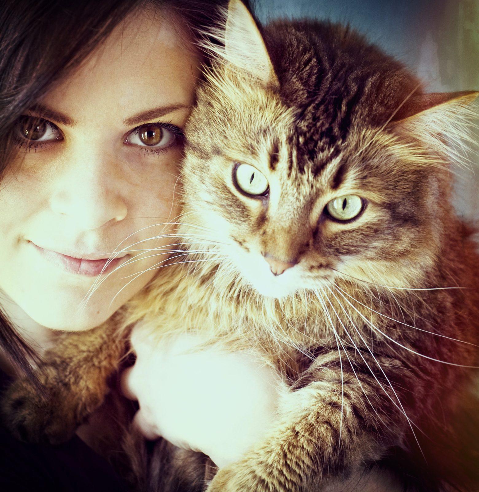 Instagram photo of girl holding her cat