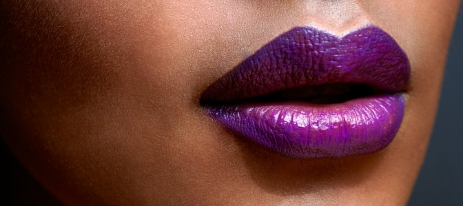 Even if you're not a professional makeup artist, a dramatic purple pout is easy to master!