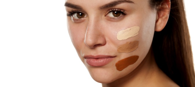 Where should you test foundation to get the best color match for your skin?