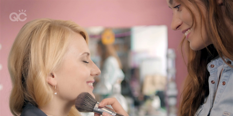 professional makeup artist certification working on client