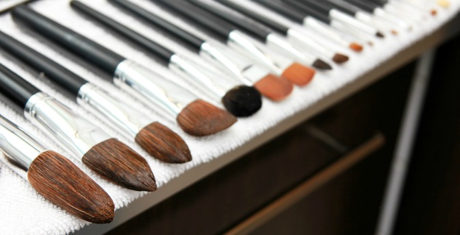 Make sure water isn't dripping back onto your brushes' handles when you dry them!