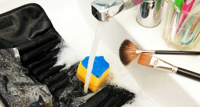 Don't forget - your makeup bag need to be cleaned regularly too!
