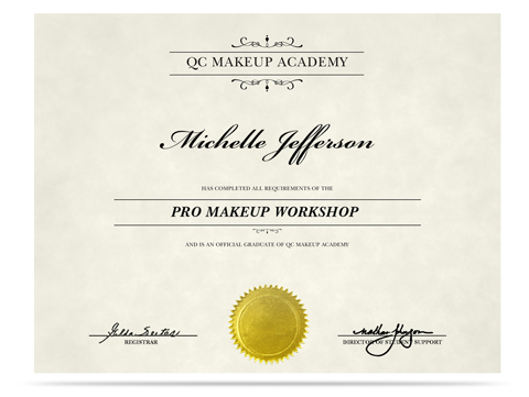 QC Pro Makeup artistry certification