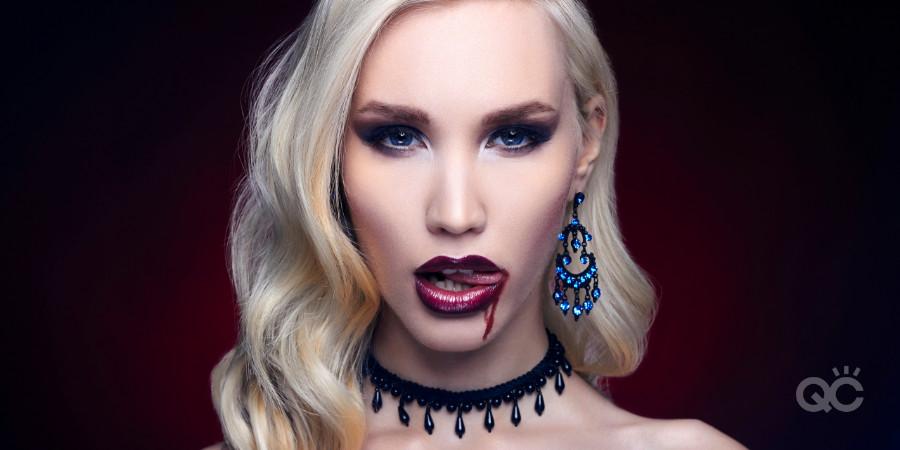 SFX makeup vampire look for Halloween