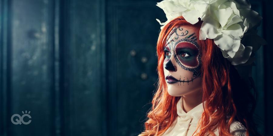 sugar skull makeup look for Halloween