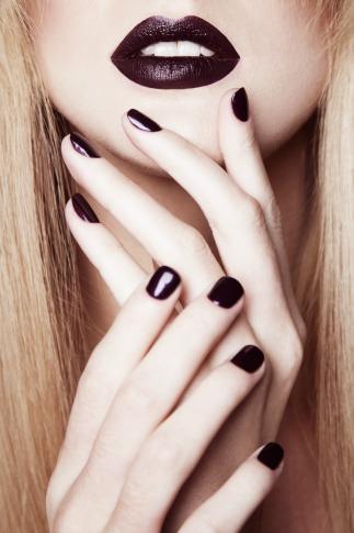 Vamp dark nail polish for throwback beauty products