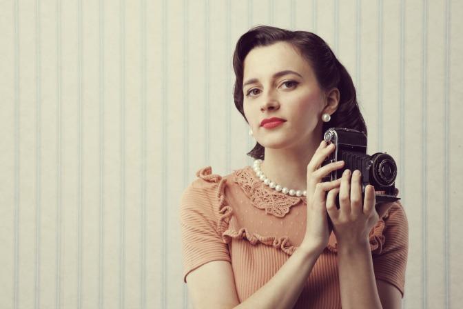 Retro pearls for womens vintage fashion look