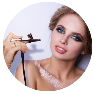 Learn to apply airbrush makeup as a professional makeup artist