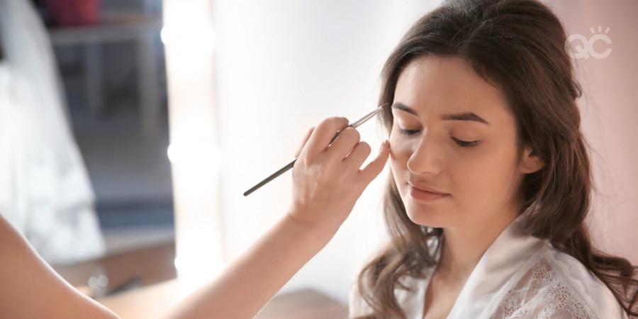 bridal makeup application