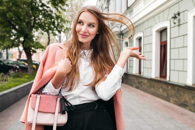Freelance makeup artist with beauty bag