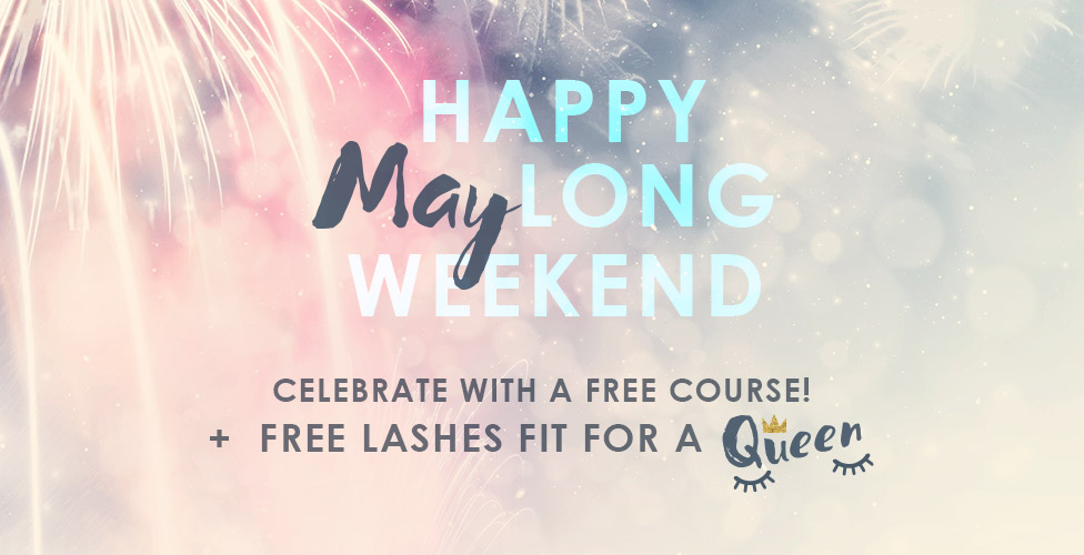 May Weekend Promotion- Free makeup course and free false lashes
