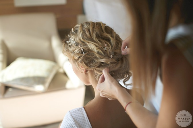 Learn bridal makeup and hair styling