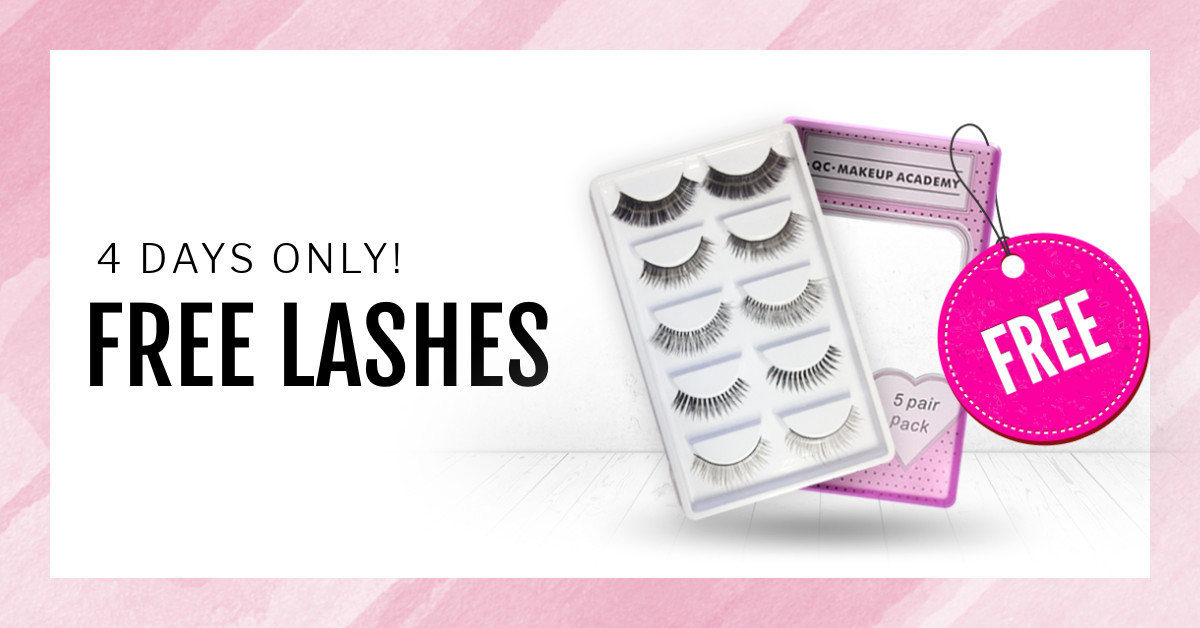 QC Makeup Academy Free False Lashes with Enrollment