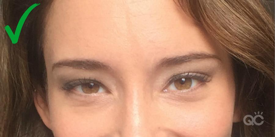 Close up eye makeup photo