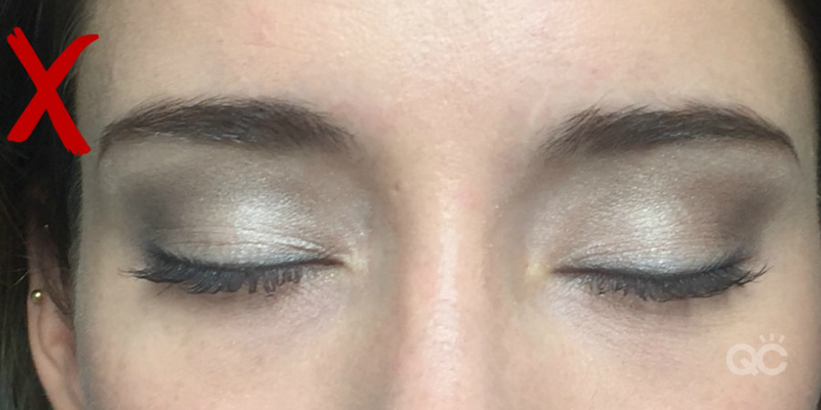 makeup model eyes closed for makeup photo is bad