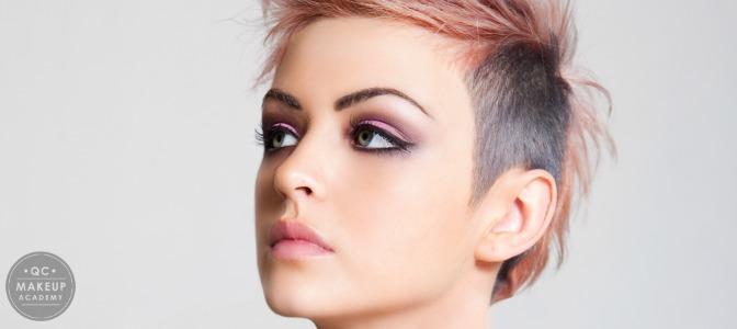 Makeup artist model in studio