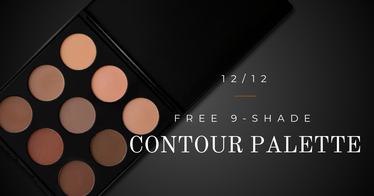 QC Makeup Academy Free 9-shade Contour Makeup Palette with Enrollment
