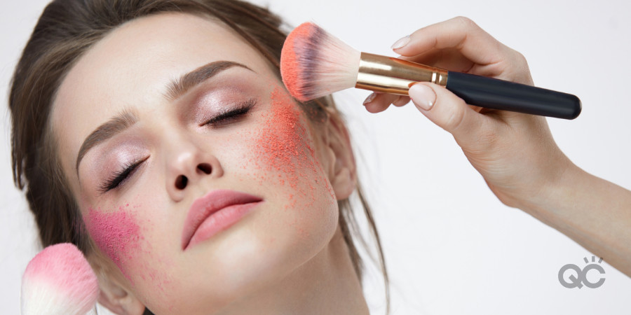 finding the best blush color for your complexion is a part of your professional makeup training