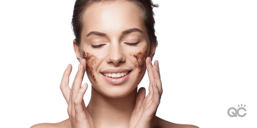 scrub on dry skin to exfoliate