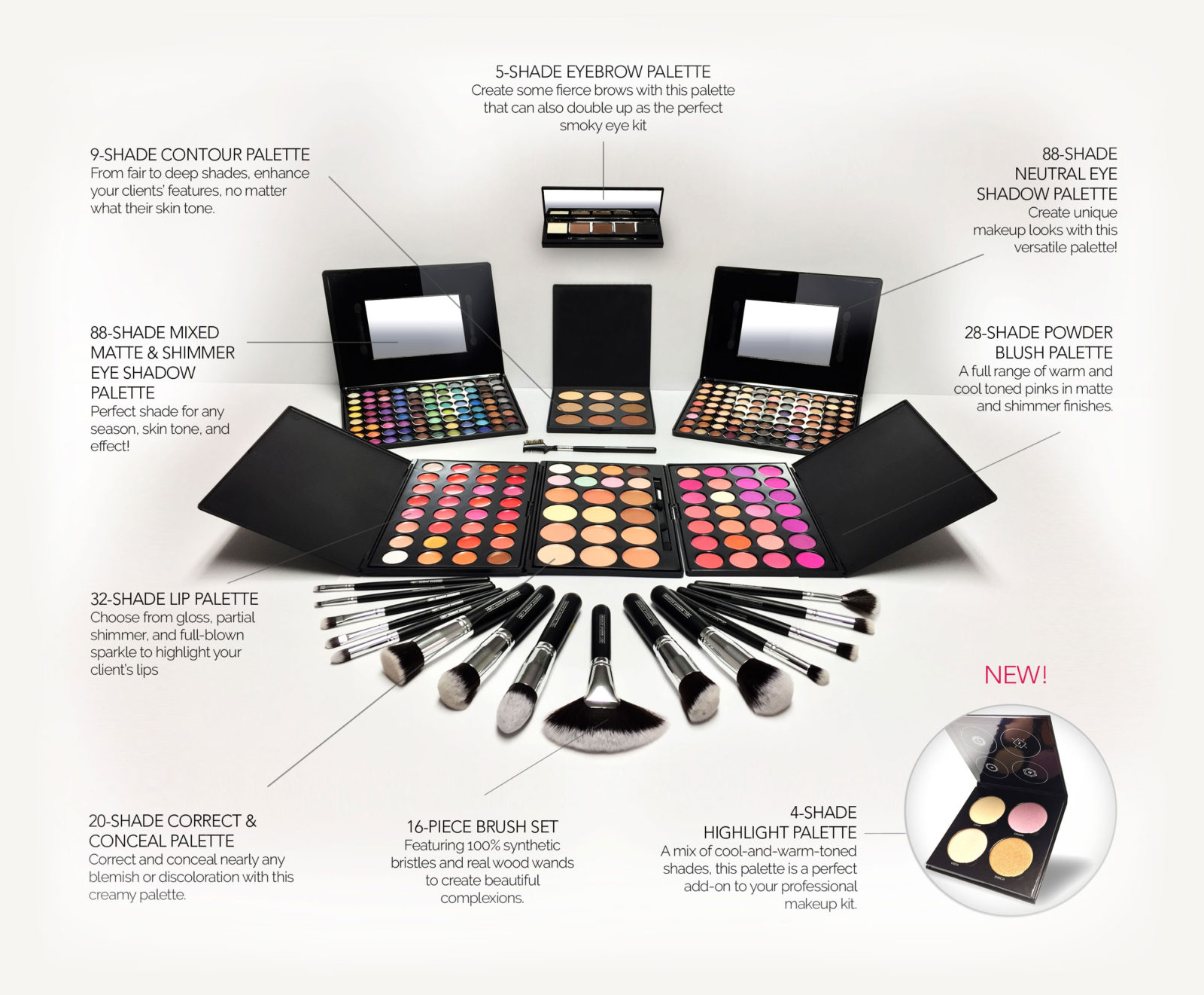 QC Makeup Academy- Free Professional Deluxe Makeup Kit
