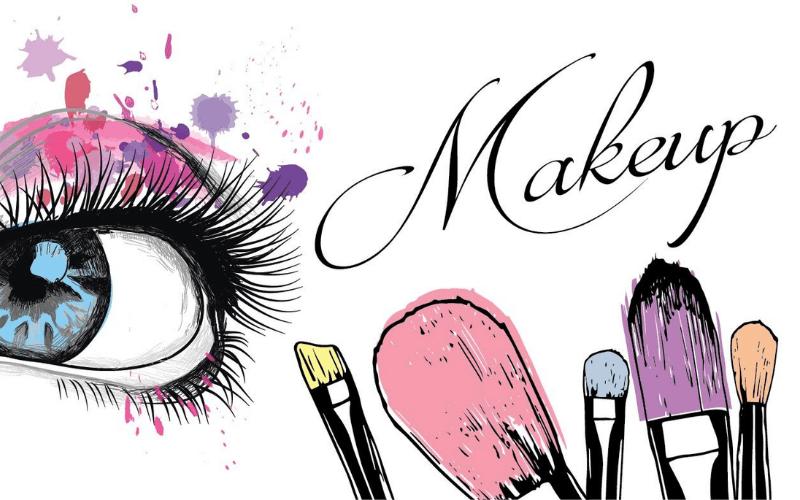 hand-drawn makeup logo
