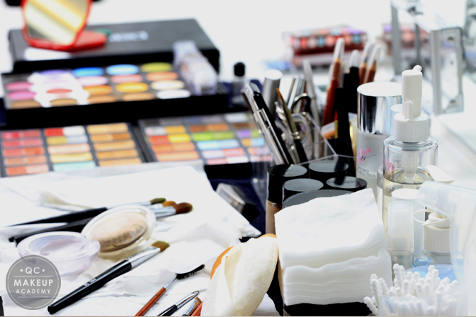 Lessons Learned in QC Makeup Academy's Makeup Class- Stocking Makeup Kit